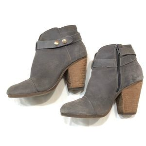 Steve Madden gray suede ankle boots